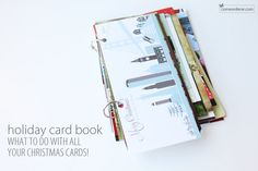 Holiday Cards Book (because I hate throwing them out) Old Christmas, Christmas Holidays, Christmas Cards, Christmas Things, Christmas Ideas, Xmas, Card Book, Card Organizer, Prayer Cards