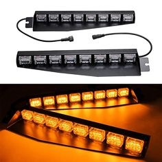 Beautiful 10 Led Car Emergency Beacon Light Bar Strobe Warning Lamp High Power Amber 6 Colors 12v Strong Resistance To Heat And Hard Wearing Traffic Light