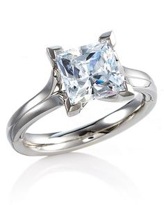 Modern Princess cut engagement ring.... But in rose gold