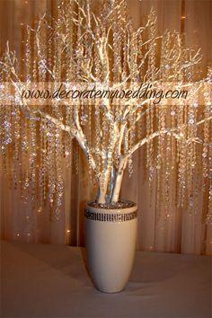 DECORATE MY WEDDING - Wedding Decorations - Crystal Wedding Trees & Crystal…