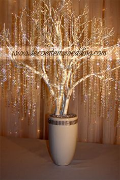 DECORATE MY WEDDING - Wedding Decorations - Crystal Wedding Trees & Crystal…