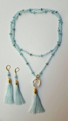 Check out this item in my Etsy shop https://www.etsy.com/ca/listing/474270274/blue-crystal-silk-tassel-lariatfall-2016