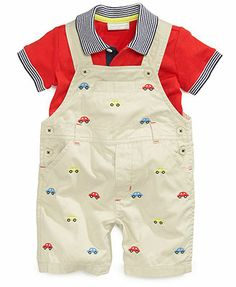 e8915b2592b First Impressions Baby Boys  2-Piece Polo   Shortall Set   Reviews - Kids -  Macy s. Toddler Boy OutfitsToddler ...
