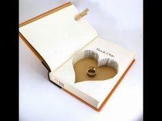 Cómo hacer #estuche de #anillos de #boda con #libro pequeño  #HOWTO #DIY #ecología #reducir #reciclar #reutilizar
