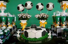 Encontrando Ideias: Festa Futebol!! Soccer Theme Parties, Football Party Decorations, Soccer Party, Party Themes, Party Ideas, Soccer Birthday, Happy Birthday, Ideas Para Fiestas, Imagination