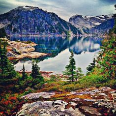 Emma lake, Powell river, BC Beautiful hike in the Powell river back country Glacial lake and free to stay cabin! Photo by Noni Stremming