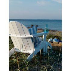 Heerlijke Scandinavische houten strandstoel/ligstoel met voetenbankje voor in de tuin. Echt Scandinavisch design