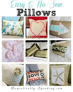 Easy and No Sew Pillows