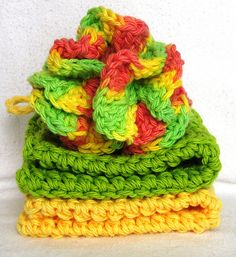 crochet bath puff pattern link