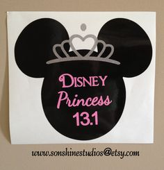 If you ran the Disney Princess 13.1 mile run you will want to show off your trophy decal on your car window. After all... 13.1 miles deserves a