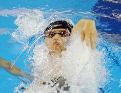 全中運動會高中男子50公尺仰式決賽。中央社記者王飛華攝