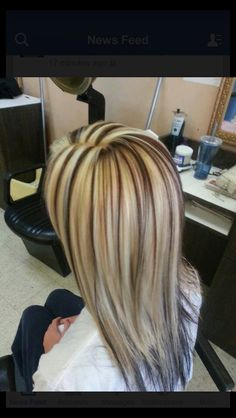 Blonde with brown - cute!