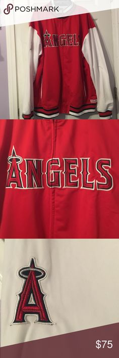 Angels baseball warm up jacket Authentic Angels athletic gear never been worn. Stitches Jackets & Coats Utility Jackets