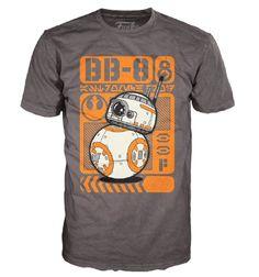 Star Wars E7 TFA: BB-8 Type Poster Pop! Tees! T-Shirt