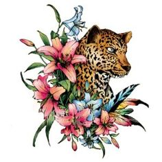 don't love the leopard, but i like it with the colors of the flowers... possible idea...