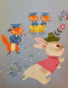 Old Children's Books, Vintage Children's Books, Vintage Cards, Alice Martin, Children's Book Illustration, Book Illustrations, Illustration Children, Bunny Book, Book Design