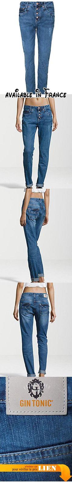 GIN TONIC - Jeans - Uni - Femme -  bleu - W34.  #Apparel #PANTS