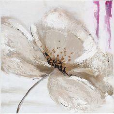 Toile déco Pei - L. 29 cm - Fleur blanche - Achat / Vente TABLEAU ...