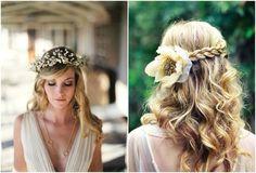 Bohemian hairstyle || flower crown ||