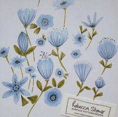 Blue Flowers by Rebecca Stoner www.rebeccastoner.co.uk