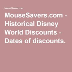 mousesavers disney world