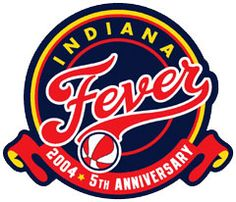 Indiana Fever Logo in 2004 for 5th Anniversary