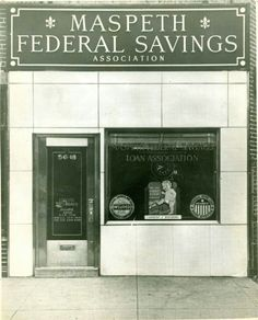 The original Maspeth Federal savings branch opened in Brooklyn New York, New York City, Queens Nyc, Old Pictures, History, The Originals, Federal, Antique Photos, Historia