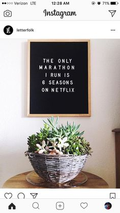The only thing I run is 6 seasons of netflix