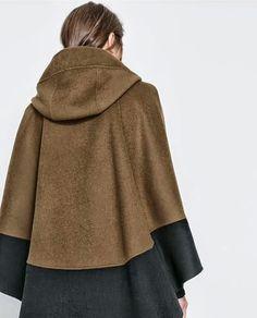 Patrón gratis: capa con capucha (tallas XS-L)