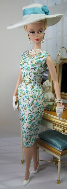 Three Fresh Floral Printed Sheaths for Silkstone Barbie and Victoire Roux on Etsy now