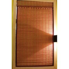 Window Dressing Bamboo Art Spring Time Roman Shade Size: