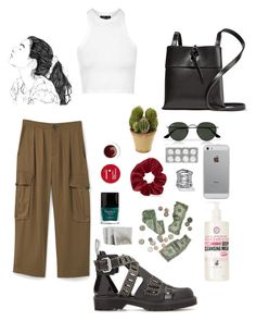 """Maju 1"" by alicemarianaa on Polyvore featuring MANGO, Topshop, McQ by Alexander McQueen, Ray-Ban, Kara, Luvvitt, Palm Beach Jewelry, Soap & Glory, Nearly Natural and Korres"