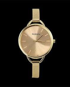 Gold Stainless Steel High Class Fashion Luxury Watches With Flexible Metal Bands Do you love to look sharp and attractive to the people around you? Then these super precise custom hand made watches are a must have! Women's Dress Watches, Women's Watches, Wrist Watches, Nice Watches, Cheap Watches, High Class Fashion, Gold Watches Women, Gold Fashion, Style Fashion