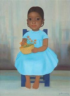 Niña de la silla azul By Gustavo Montoya ,1968