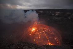 Lago de lava de la cima del volcán Kilauea alcanza récord de altura (hipnotizante vídeo) - Kilauea Lava Lake Hits Record Height