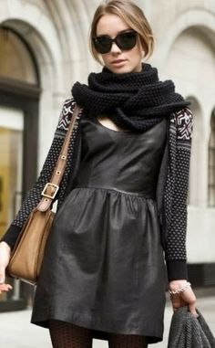How to Chic: LEATHER DRESS