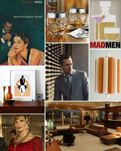 Mood Board Monday: Mad Men From HGTV's Design Happens Blog (http://blog.hgtv.com/design/2013/04/08/mood-board-monday-mad-men/?soc=pinterest)