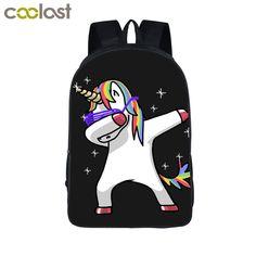 US  16.41 41% OFF Funny Cartoon Dab Unicorn Panda Backpack For Teens Boys  Dab On Em Kids Book Bag Children School Bags Men Women Backpacks Bag-in  Backpacks ... c87bdebedf