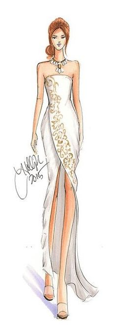 H. Nichols fashion Illustration
