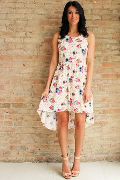 Anise Open Back Floral Dress