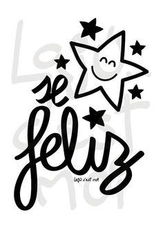 Be Happy ilustración descarga instantánea...láminas