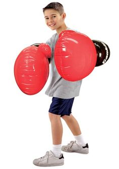 Giant Inflatable Boxing Gloves Red Blue Rocky Fancy Dress Novelty Gift Blow Up