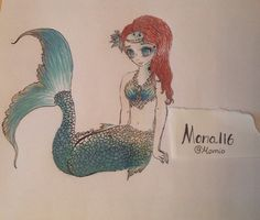 Majestic mermaid that I made a whle ago. Her anatomy is quite bad as you can see but the colouring is what i like :~>