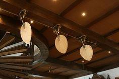 Raffles Hotel, Singapore has these overhead fans to cool it down. I love them and want them.