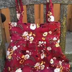Handmade hobo bag purse shoulder bag floral print by Joanna1966