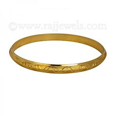 Shop online for men's jewelry: yellow gold bangle bracelet; this popular style is also known as Punjabi Kada, a hot selling accessory.