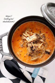 きのこの旨みたっぷり!めっちゃ簡単まろやか坦々スープ(オススメです)|たっきーママ オフィシャルブログ「たっきーママ@Happy Kitchen」Powered by Ameba