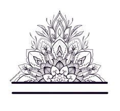 Mandala Tattoo Design, Flower Tattoo Designs, Ankle Tattoo, Arm Tattoo, Tattoo Sketches, Tattoo Drawings, Rosen Tattoo Schwarz, Mandala Tattoo Sleeve Women, Zwilling Tattoo