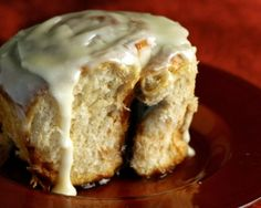Cinnabon's Classic Cinnamon Roll Recipe Made a few changes - greek yogurt with a tsp vanilla extract and just used real butter.