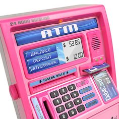 Atm Bank, Bedroom Wall Collage, Bedroom Setup, Bedroom Ideas, Money Machine, Pink Phone Cases, Cute Room Decor, Wall Decor, Aesthetic Iphone Wallpaper